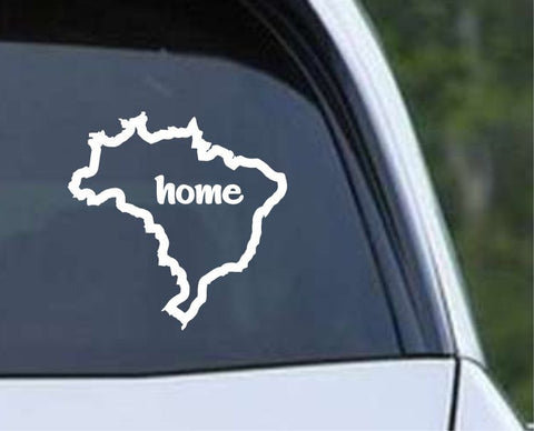 Brazil Brasil Home Country Outline Die Cut Vinyl Decal Sticker - Decals City