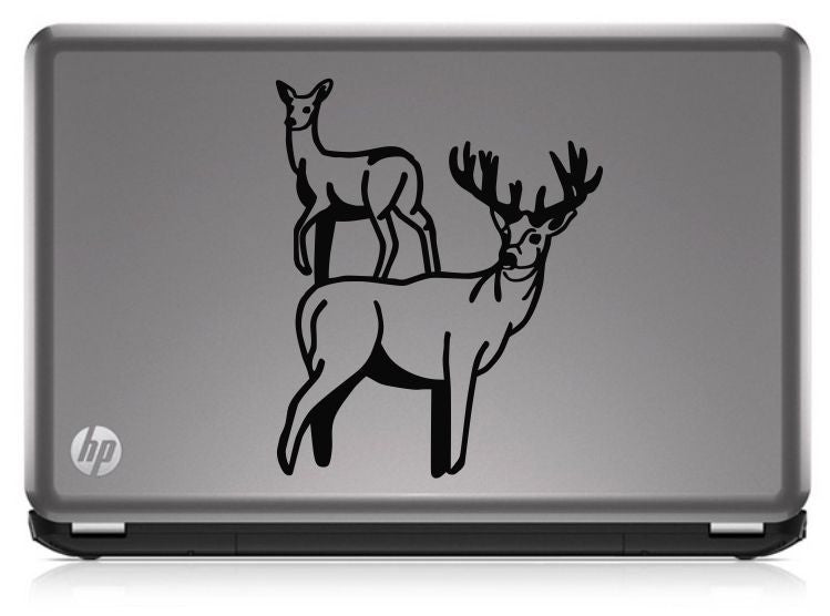Buck Hunting; Buck & Doe HNT1-33 Die Cut Vinyl Decal Sticker - Decals City