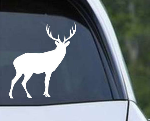 Buck Hunting Silhouette HNT1-48 Die Cut Vinyl Decal Sticker - Decals City