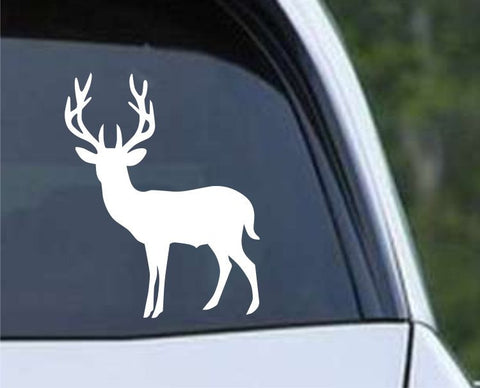 Buck Hunting Silhouette HNT1-51 Die Cut Vinyl Decal Sticker - Decals City