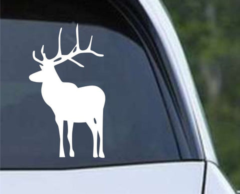 Buck Hunting Silhouette HNT1-53 Die Cut Vinyl Decal Sticker - Decals City