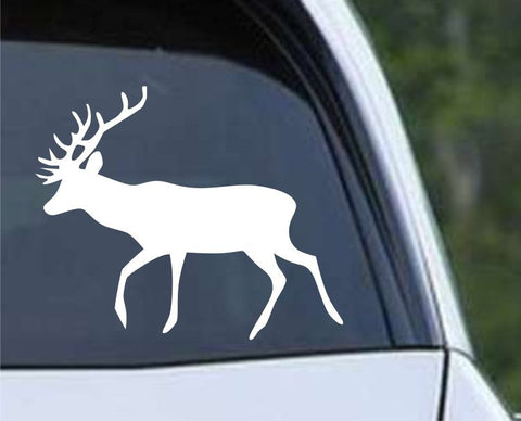 Buck Hunting Silhouette HNT1-63 Die Cut Vinyl Decal Sticker - Decals City