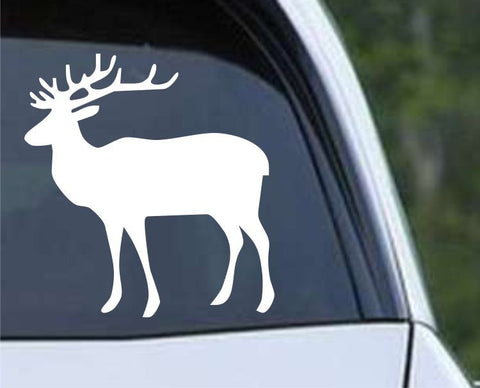 Buck Hunting Silhouette HNT1-64 Die Cut Vinyl Decal Sticker - Decals City
