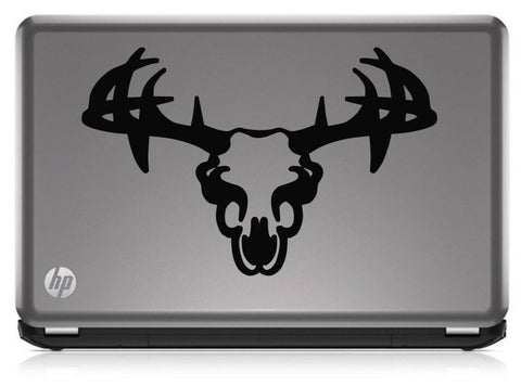 Buck Hunting Skull With Rack HNT1-29 Die Cut Vinyl Decal Sticker