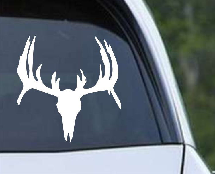 Buck Hunting Skull With Rack HNT1-40 Die Cut Vinyl Decal Sticker - Decals City