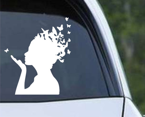 Butterfly Girl Die Cut Vinyl Decal Sticker