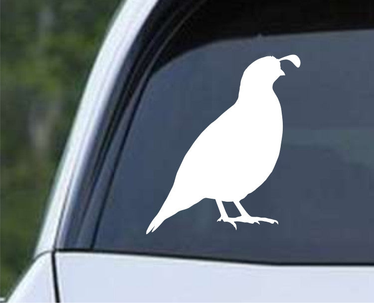 California Quail Silhouette Die Cut Vinyl Decal Sticker - Decals City