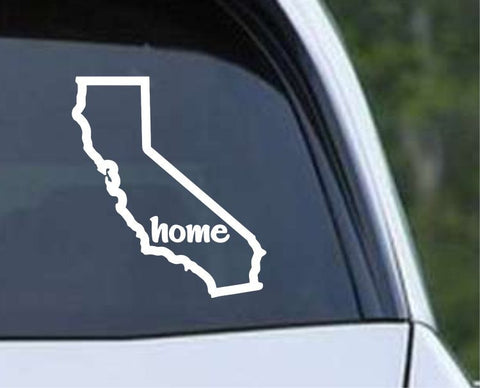 California State Home Outline CA - USA America Die Cut Vinyl Decal Sticker - Decals City