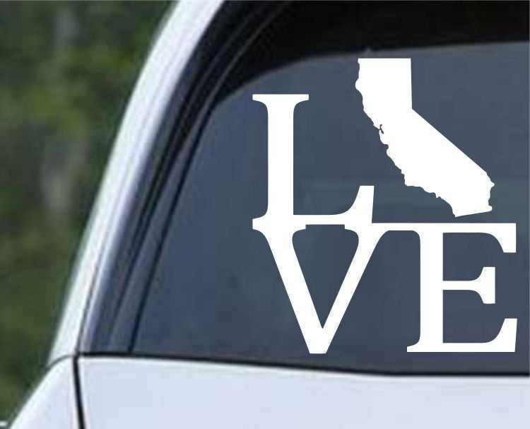California State Love CA - USA America Die Cut Vinyl Decal Sticker - Decals City