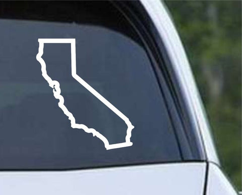 California State Outline CA - USA America Die Cut Vinyl Decal Sticker - Decals City