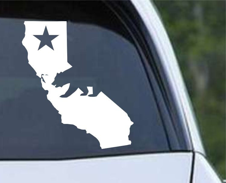 California State with Bear CA - USA America Die Cut Vinyl Decal Sticker - Decals City