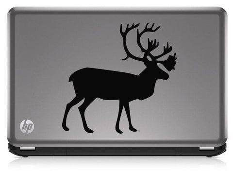 Caribou Silhouette Hunting HNT1-50 Die Cut Vinyl Decal Sticker