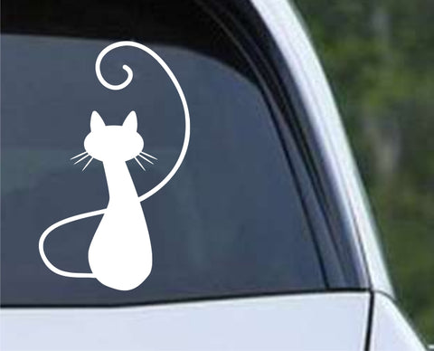 Cat Silhouette (02) Die Cut Vinyl Decal Sticker - Decals City