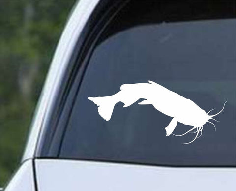 Catfish Fish Silhouette v4 Die Cut Vinyl Decal Sticker - Decals City