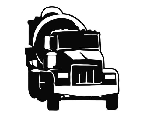 Cement Truck Die Cut Vinyl Decal Sticker - Decals City