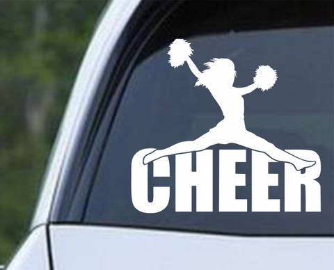 Cheerleader - Cheer Word Silhouette Die Cut Vinyl Decal Sticker - Decals City