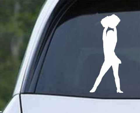 Cheerleader - Silhouette v2 Die Cut Vinyl Decal Sticker - Decals City