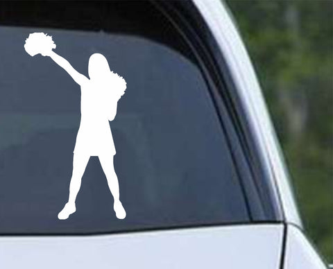 Cheerleader - Silhouette v3 Die Cut Vinyl Decal Sticker - Decals City