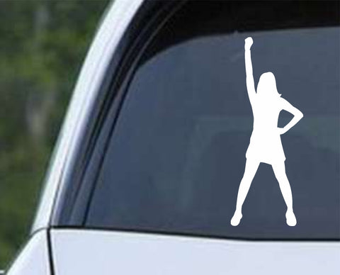 Cheerleader - Silhouette v6 Die Cut Vinyl Decal Sticker - Decals City