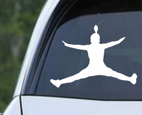 Cheerleader - Silhouette v9 Die Cut Vinyl Decal Sticker - Decals City