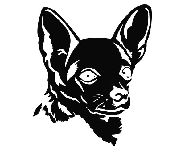 Chihuahua Dog Silhouette Die Cut Vinyl Decal Sticker