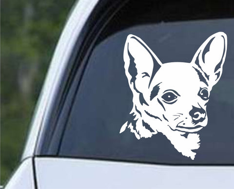 Chihuahua Dog Silhouette Die Cut Vinyl Decal Sticker - Decals City
