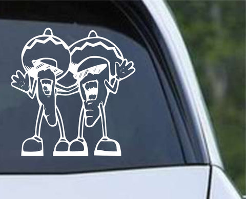 Chili Peppers Funny Die Cut Vinyl Decal Sticker - Decals City