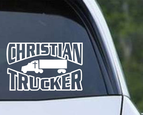 Christian Trucker Die Cut Vinyl Decal Sticker - Decals City