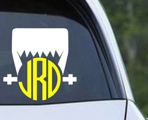Frankenstein Circle Monogram Die Cut Vinyl Decal Sticker