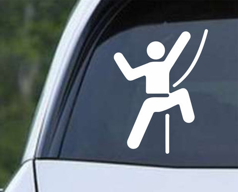 Climbing - Rock Climber Icon Symbol Die Cut Vinyl Decal Sticker - Decals City