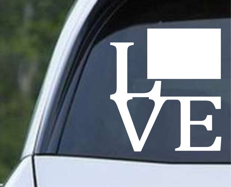 Colorado State Love CO - USA America Die Cut Vinyl Decal Sticker - Decals City