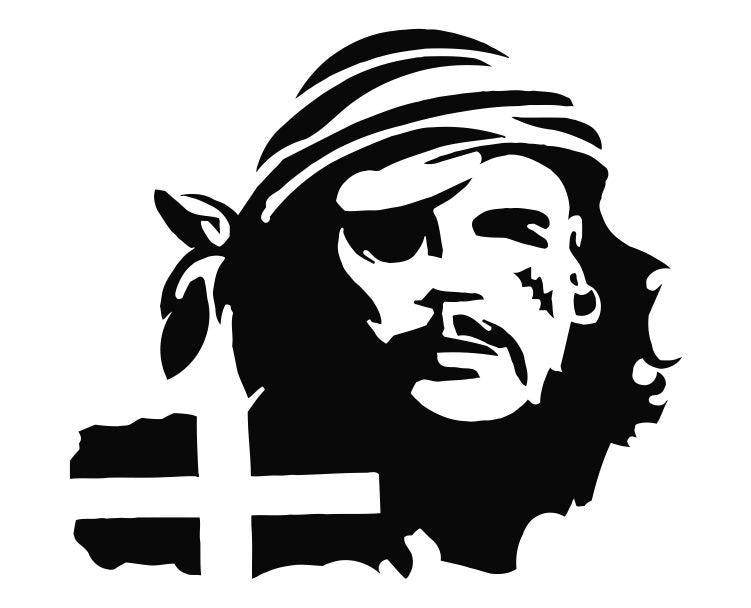 Cornish Pirate Die Cut Vinyl Decal Sticker - Decals City