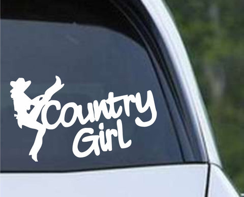 Country Girl Cowgirl Die Cut Vinyl Decal Sticker - Decals City