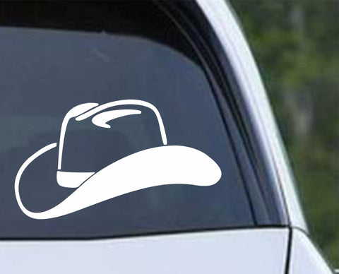 Cowboy Cowgirl Hat Die Cut Vinyl Decal Sticker