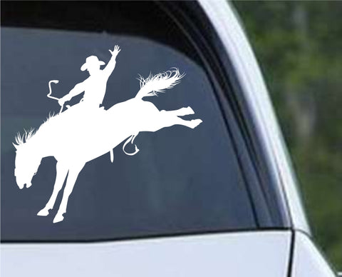 Cowboy Silhouette v4 Die Cut Vinyl Decal Sticker