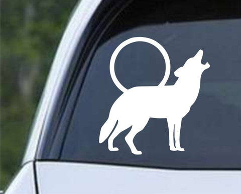 Coyote Howling Die Cut Vinyl Decal Sticker