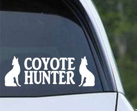 Coyote Hunter Die Cut Vinyl Decal Sticker