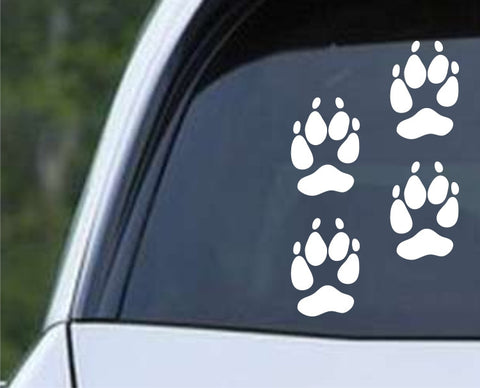 (2x) Coyote Tracks Die Cut Vinyl Decal Sticker