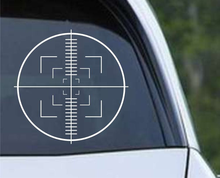Crosshair Scope Hunting Target HNT1-13 Die Cut Vinyl Decal Sticker - Decals City