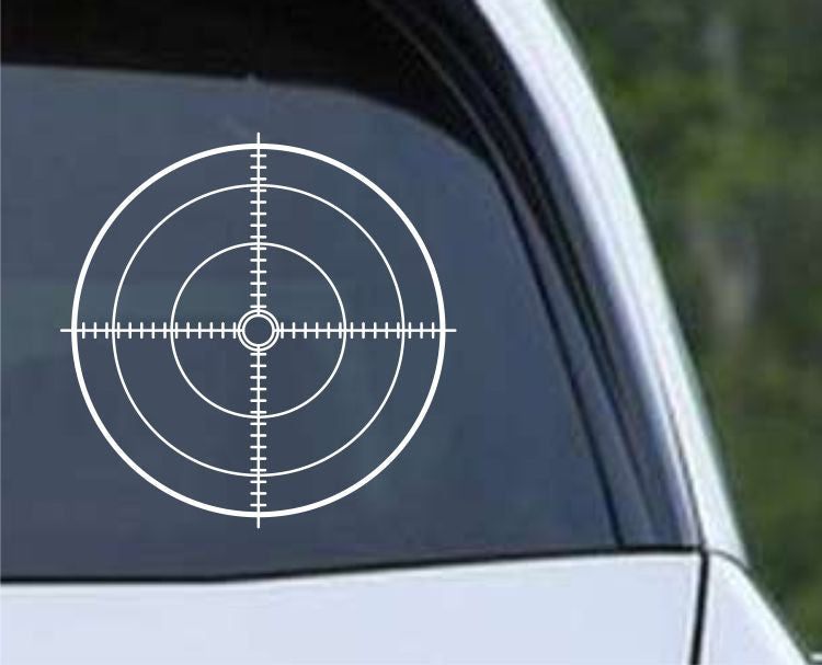 Crosshair Scope Hunting Target HNT1-14 Die Cut Vinyl Decal Sticker - Decals City