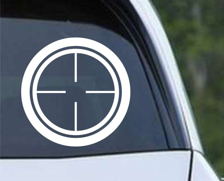 Crosshair Scope Hunting Target HNT1-4 Die Cut Vinyl Decal Sticker - Decals City