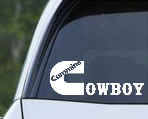 Dodge Cummins Cowboy Die Cut Vinyl Decal Sticker