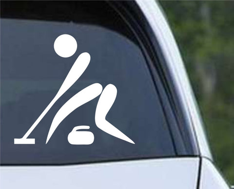 Curling Pictogram Die Cut Vinyl Decal Sticker