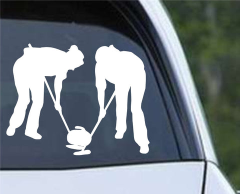 Curling Silhouette Die Cut Vinyl Decal Sticker
