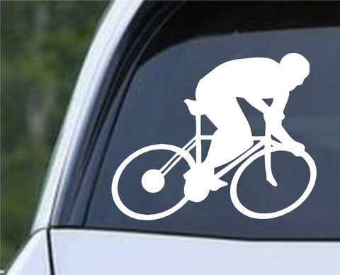 Cycling Silhouette Die Cut Vinyl Decal Sticker