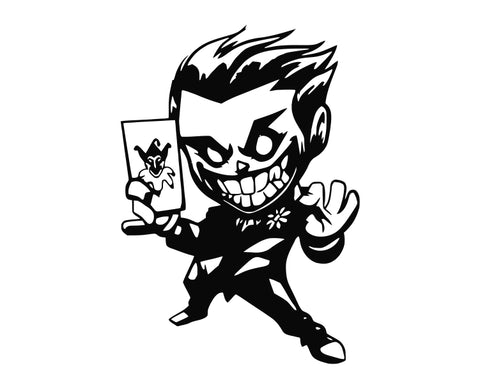 Batman - Chibi Joker Die Cut Vinyl Decal Sticker - Decals City