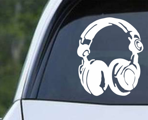 DJ Head Phones Die Cut Vinyl Decal Sticker - Decals City