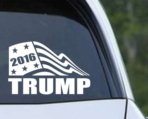 Donald Trump 2016 Flag Die Cut Vinyl Decal Sticker - Decals City