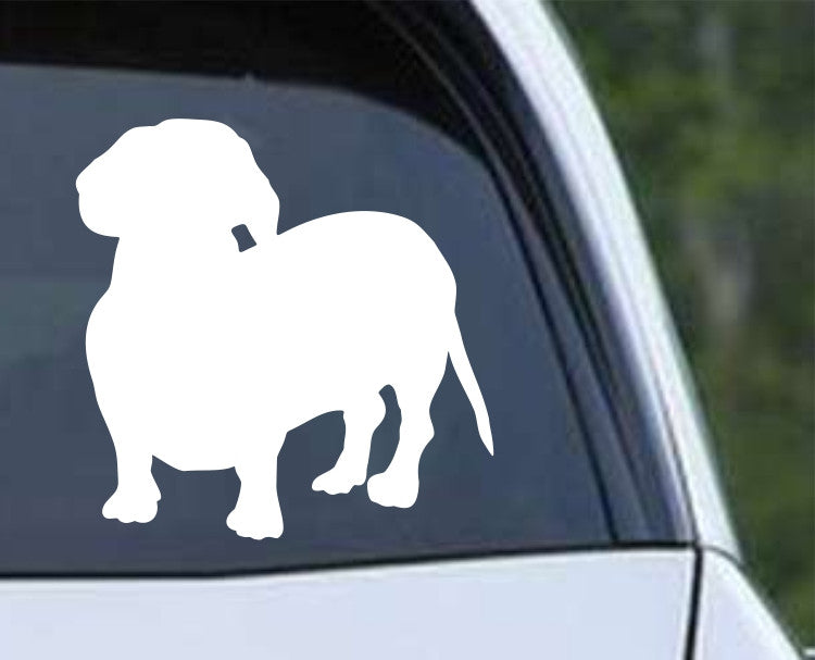 Dachshund Weiner Dog Silhouette (a) Die Cut Vinyl Decal Sticker - Decals City
