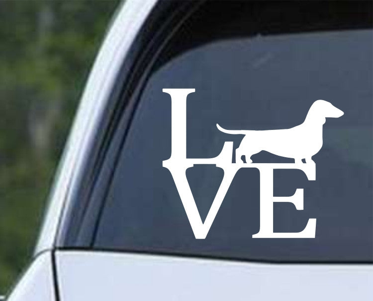 Dachshund Weiner Dog Love Die Cut Vinyl Decal Sticker - Decals City